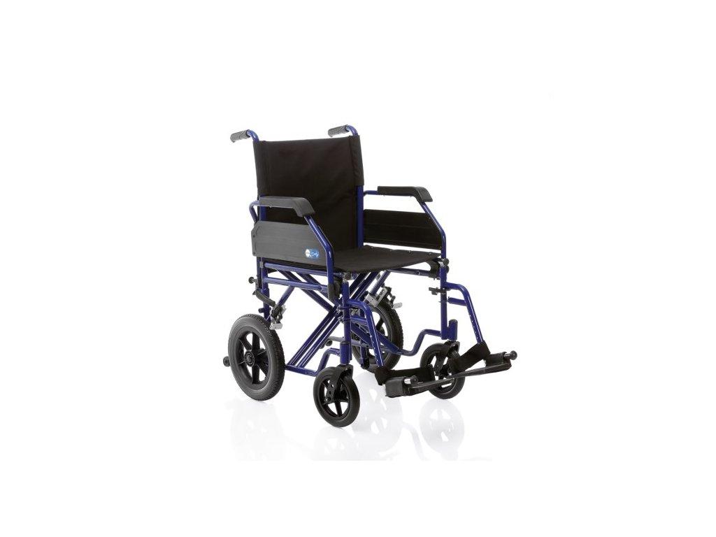 Invalidní vozík CP205 transportní skládací DUAL GO! 150 kg nosnost