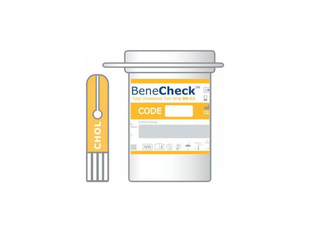 Testovací proužek BeneCheck pro stanovení cholesterolu