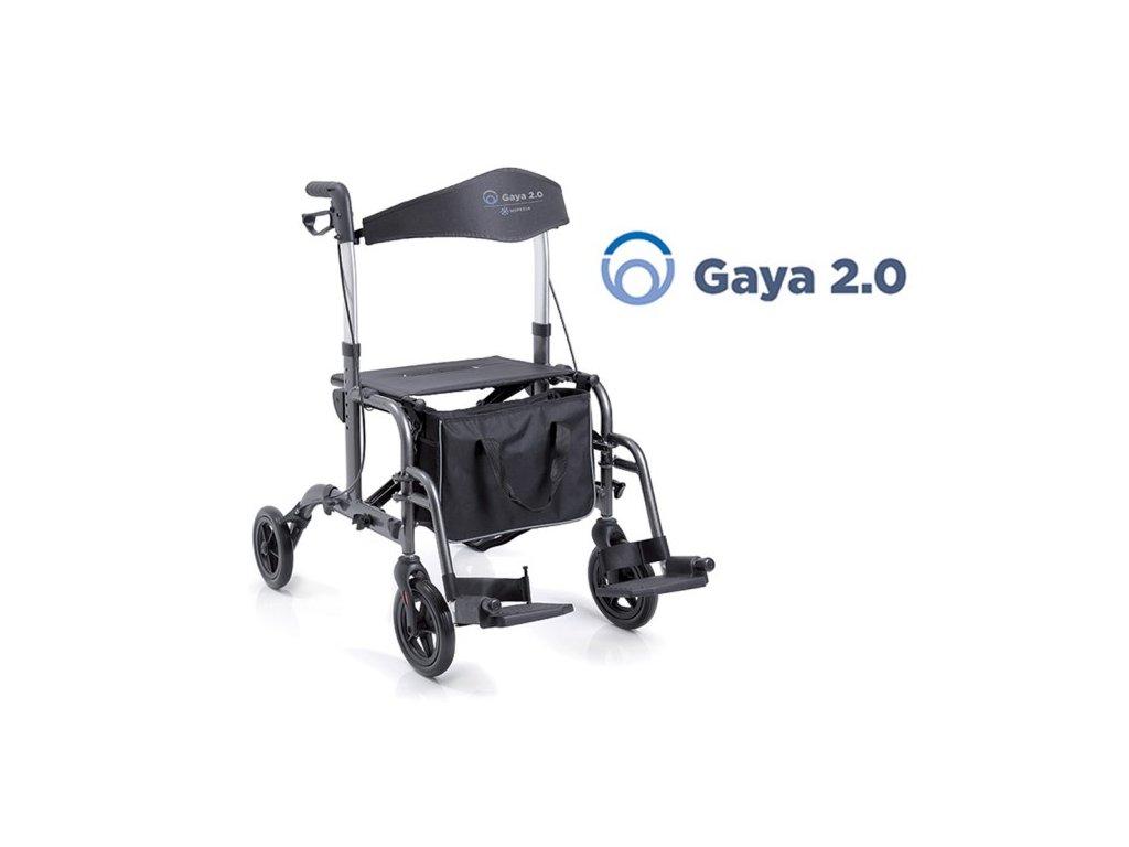 Chodítko čtyřkolové skládací s podnožkami GAYA 2.0