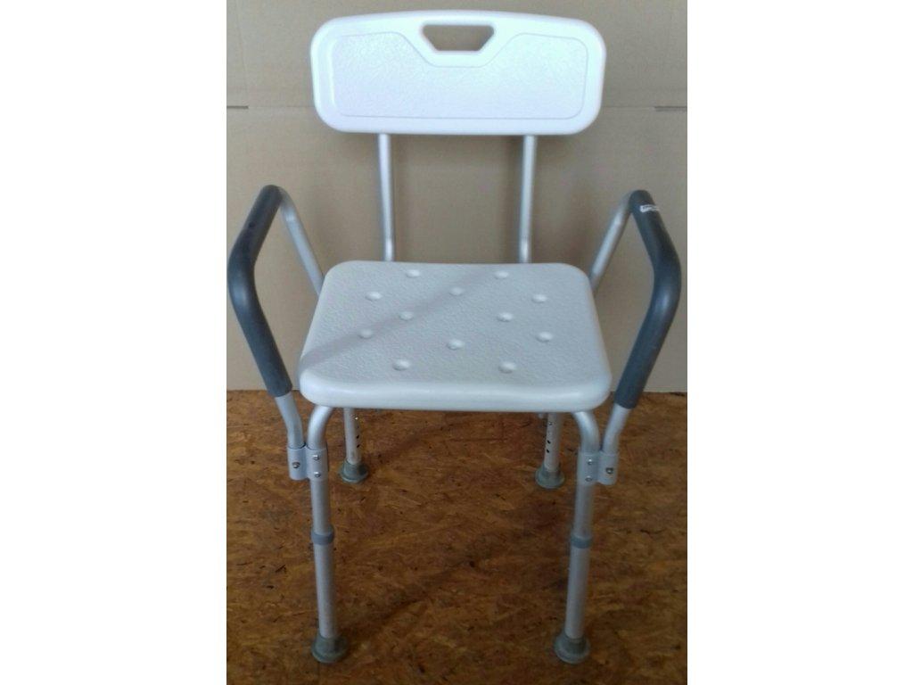 Židle do sprchy se zádovou opěrkou a područkami