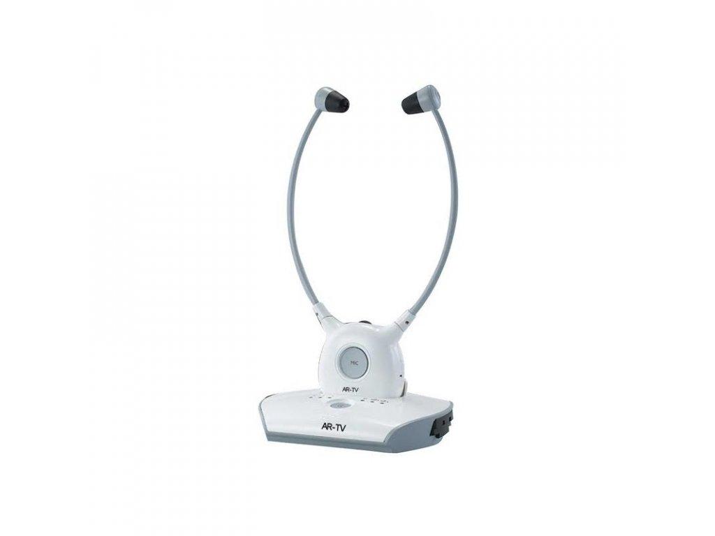 Bezdrátová zesílená sluchátka k televizi pro nedoslýchavé AR-TV