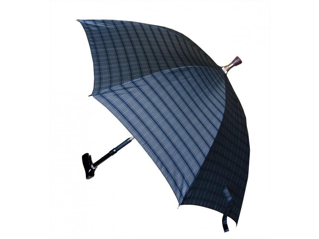 Hůl s deštníkem, výškově nastavitelná