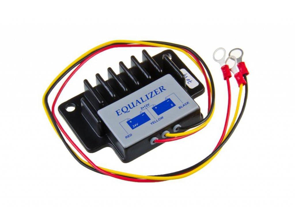 Balancér / vyrovnávač napětí pro baterie 2 x 12 V
