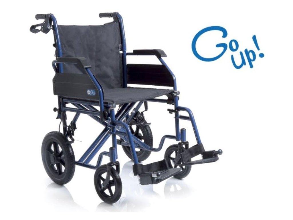 Invalidní vozík mechanický GO UP! s přídatnými brzdami