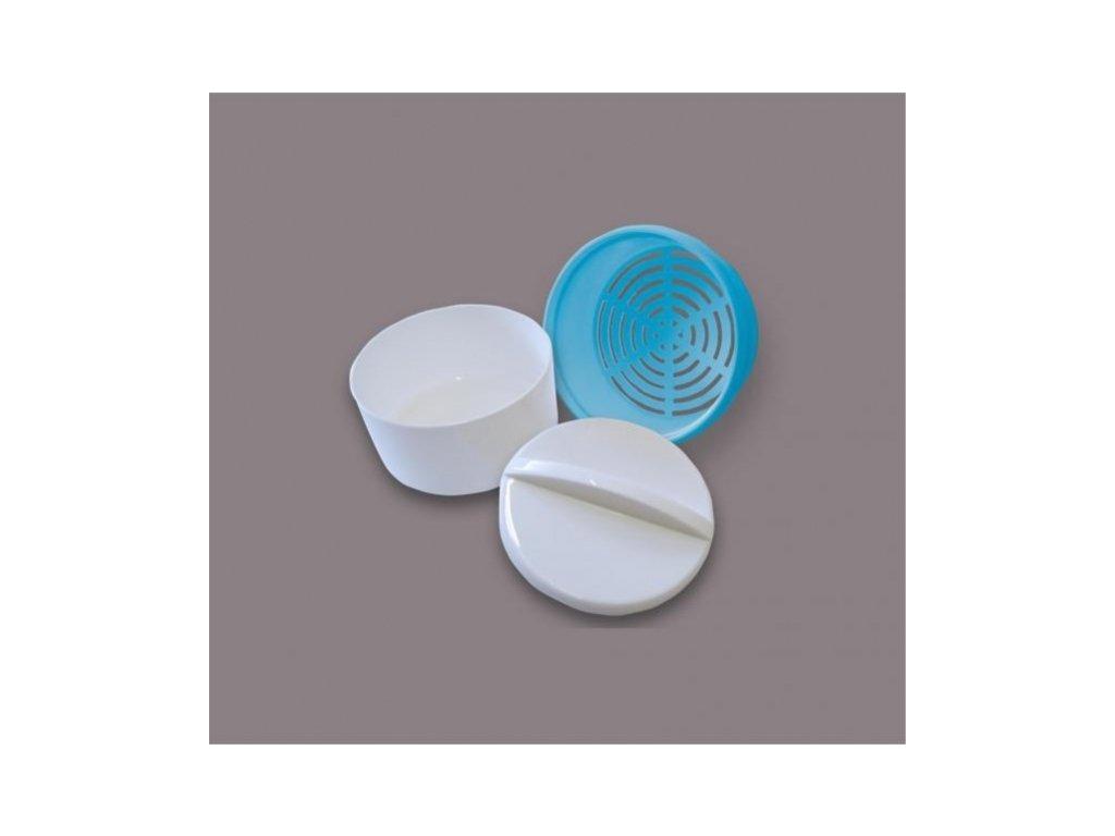Krabička na zubní protézy a rovnátka (bílá/modrá)