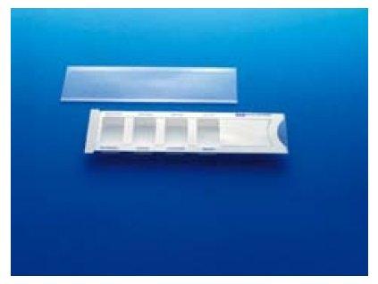 Dávkovač léků plastový bílý