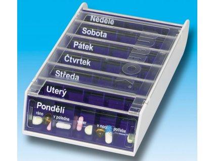 Dávkovač na léky ANABOX® 7 dní modrý