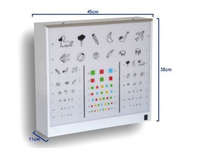 Optotyp pediatrický prosvětlený obrázkový