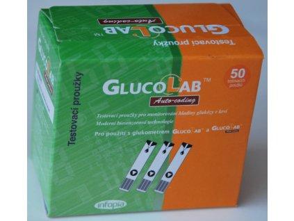 Testovací proužky GlucoLab 50 ks