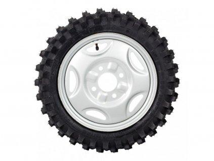 2x zadní terénní kolo (demontáž/montáž na ráfek, výměna pneumatik)