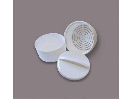 Krabička na zubní protézy a rovnátka (bílá/bílá)