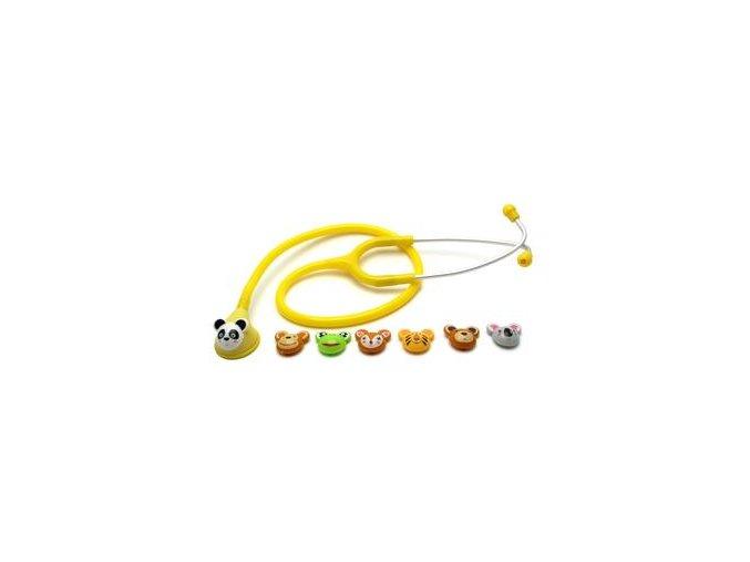 Fonendoskop dětský Fun, žlutý