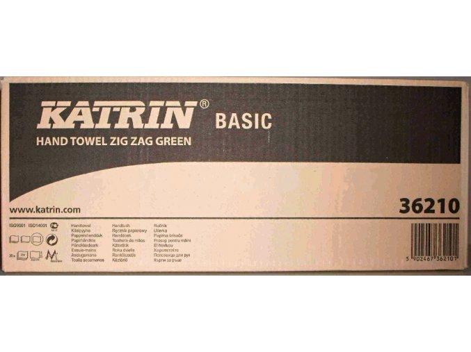 Ručník papírový skládaný KATRIN Zigzag-ZZ, 1 vrstva, 5000 ks, zelená