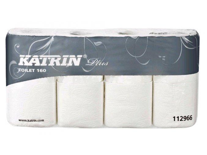 Toaletní papír KATRIN PLUS TOILET 144, 2 vrstvy, bílý, 1x8 ks