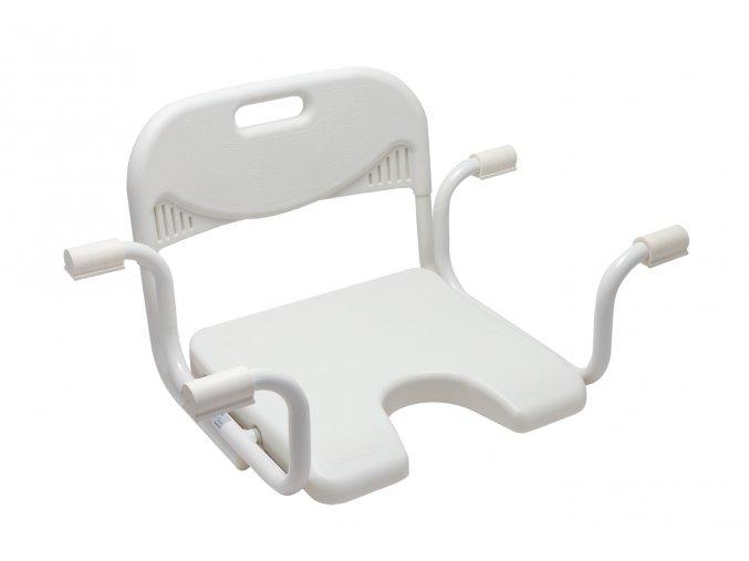 Sedačka na vanu s hygienickým výřezem a opěrkou zad