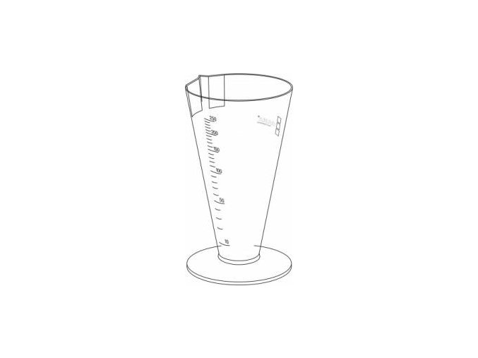 Kónická odměrka na moč 250 ml ŠAMPUSKA