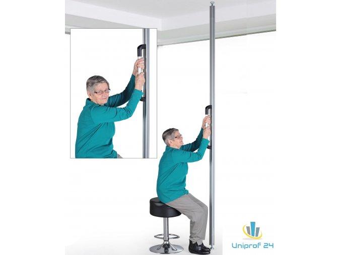 Pomůcka pro postavení, tyč na podlahu a strop, upínací tyč