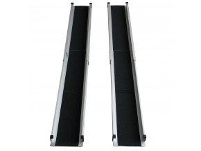 Mobilní nájezdové ližiny/ teleskopická rampa 156-210 cm