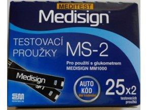 Testovací proužky Medisign MS-2 pro MM1000 5 pack (5x50ks)