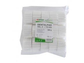 Dentální vatové válečky DENTALPAD 10 mm, 300 g