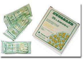 Lemogil - Vatová tyčinka 15 cm s glycerinem a citronovou příchutí