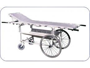Vozík s nosítky velká přední kola 500002