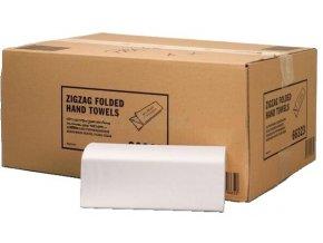 Skládané papírové ručníky Tork Natural Zigzag-ZZ, 2 vrstvy, 3 750 ks, béžová