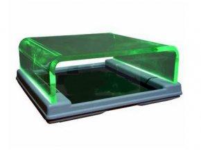 Podoskop se zeleným světlem