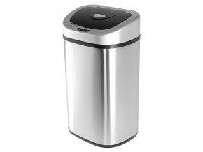 Bezdotykový odpadkový koš Helpmation OVAL 2×40 litrů