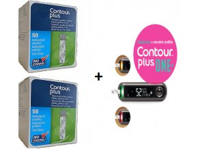GLUKOMETR CONTOUR PLUS ONE ZDARMA