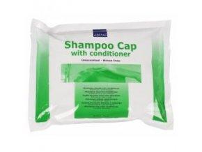 Koupací čepice ABENA s obsahem šamponu a kondicionéru
