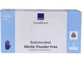 Rukavice vyšetřovací antimikrobiální NITRIL L, nepudrované