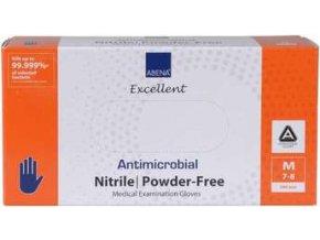 Rukavice vyšetřovací antimikrobiální NITRIL M, nepudrované
