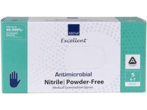 Rukavice vyšetřovací antimikrobiální NITRIL S, nepudrované