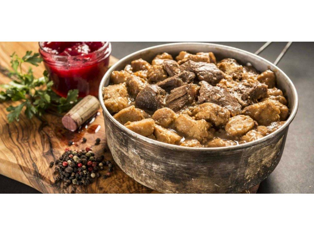 3036 1 adventure menu jeleni ragu s bramborovymi spalicky 400g
