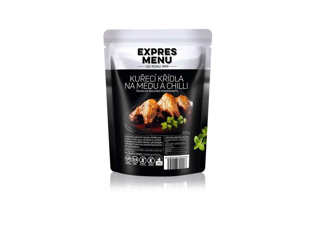3387 expres menu kureci kridla na medu a chilli 300g