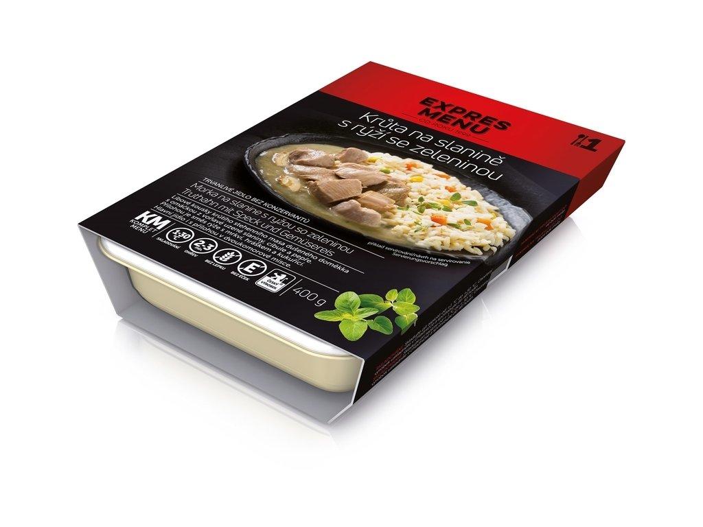 3471 expres menu km kruta na slanine ryze se zeleninou 400g