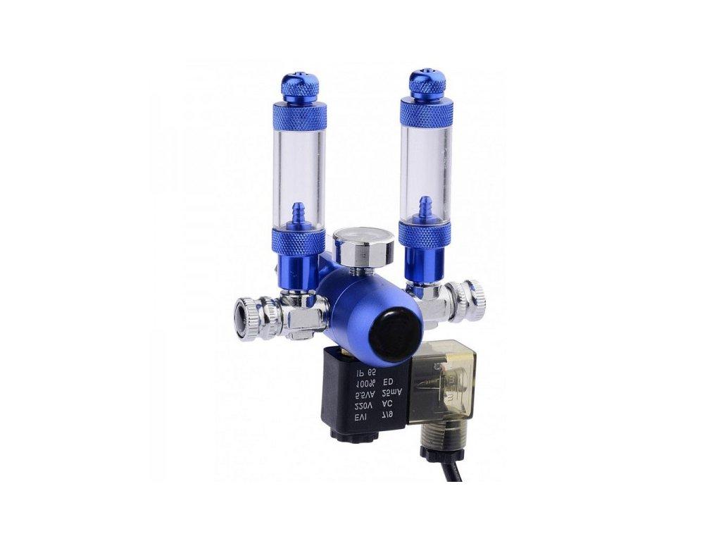 CO2 redukčný ventil - 2 vývody + nočné vypínanie