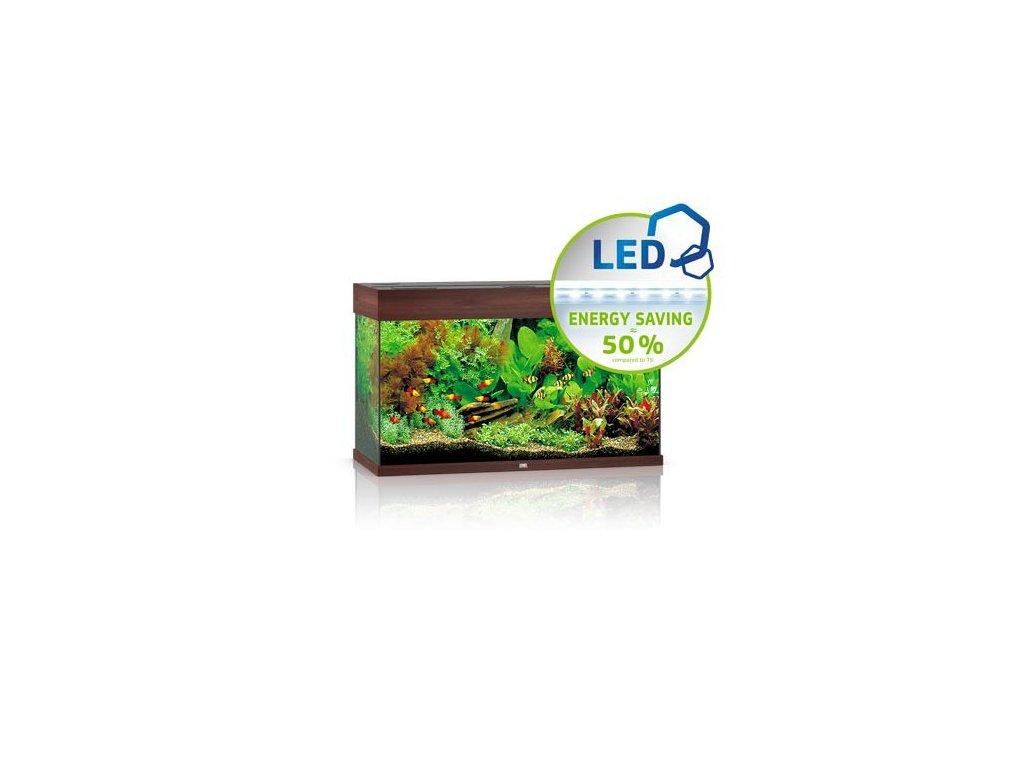 Juwel Rio 125 LED akvárium , 125l Tmavá hnedá