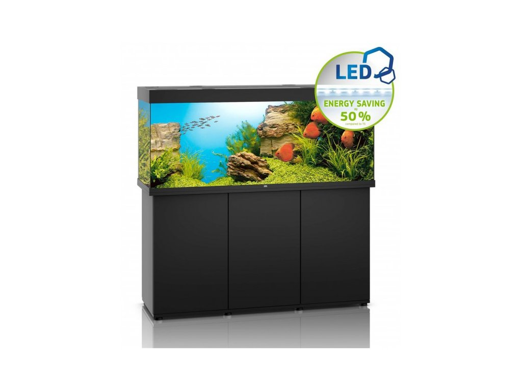 Juwel Rio LED 400 akvárium set čierne 151x51x66 cm, 450 l