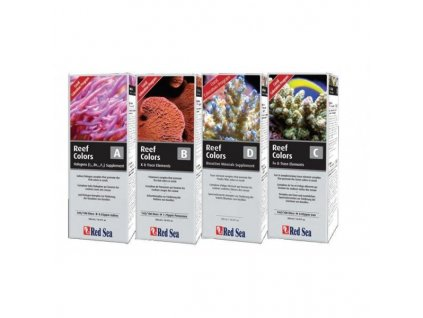 Red Sea Coral Colors A-B-C-D  (4pack x 500ml)