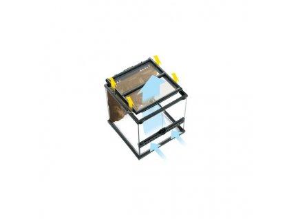 Terárium sklenené 45x45x60cm
