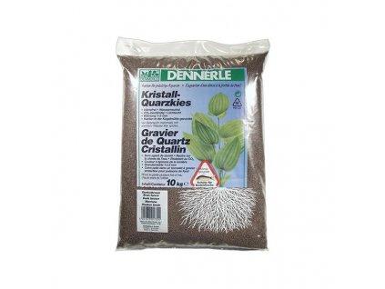 Dennerle Kristall-Quarzkies 10kg - hnedý