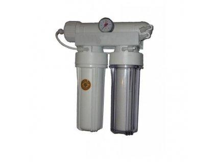 Reverzná osmóza RO 310-75-M 304l/deň s manometrom