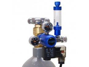 BLUE CO2 Redukční ventil s elektromagnetickým ventilem