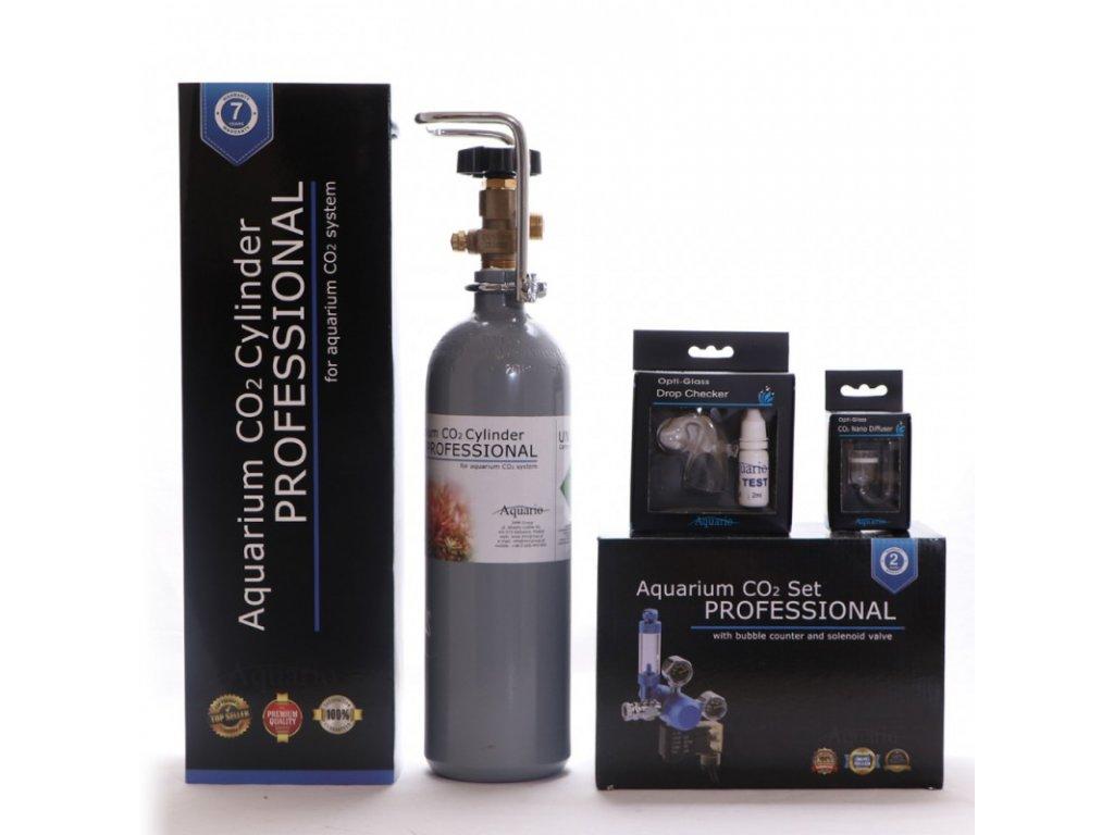 Akvaristika-365.cz BLUE Professional Co2 set 2l s nočním vypínáním - ZDARMA - difuzor, dropchecker, co2 hadička  + Dárek - Java Moss - 1ks