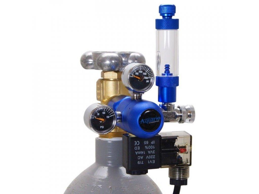 CO2 Reduktor BLUE s nočním vypínáním bez láhve