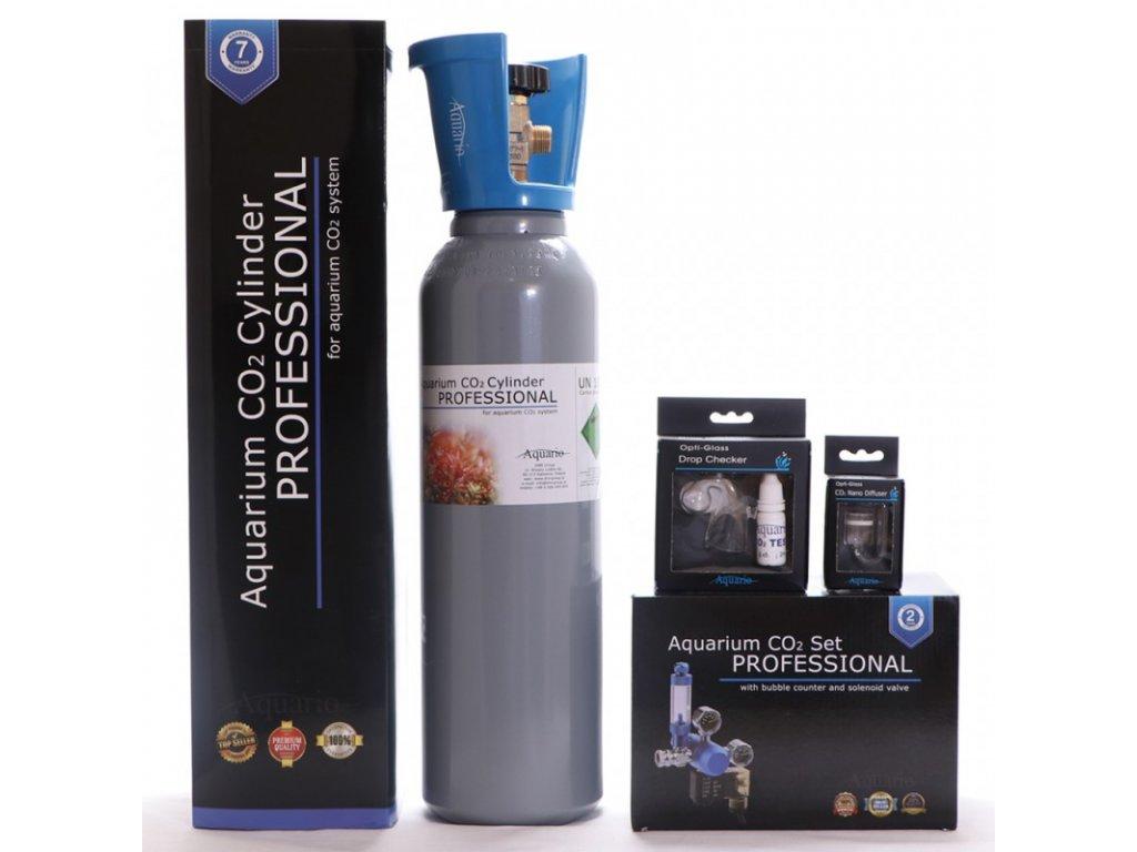 BLUE Professional Co2 set 5l s nočním vypínáním - ZDARMA - difuzor, dropchecker, co2 hadička