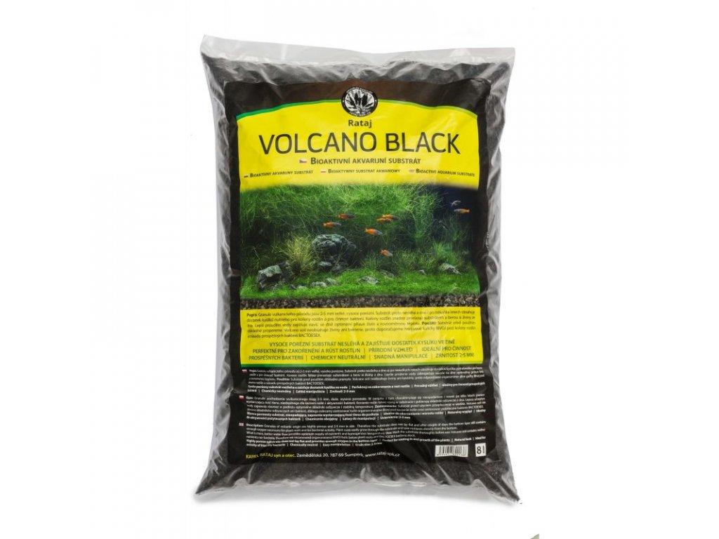 Rataj VOLCANO BLACK 8l  + Dárek - 1x Java moss ZDARMA