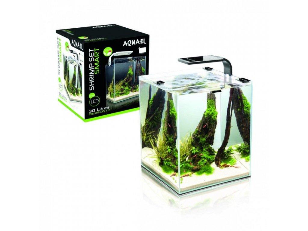 Aquael Shrimp Smart akvarijní set 10 l - černá